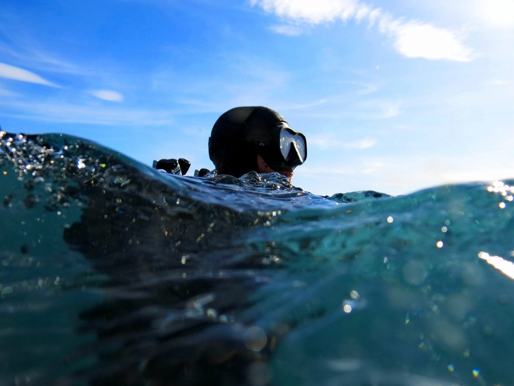 Diver in water